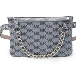Michael Kors 554131 metal Chain Belt Bag NWT